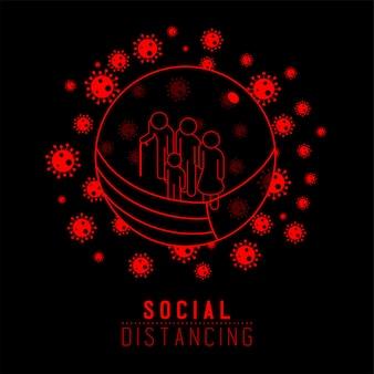 Карантин семья человек знак пиктограмма держать расстояние до защиты от вспышки вируса covid-19, социальное дистанцирование оставаться дома