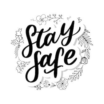 Quarantine slogan illustration