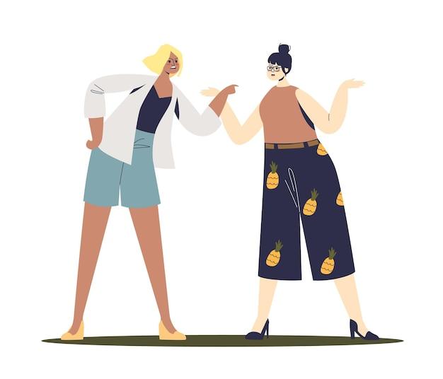 2人の女性の間の喧嘩