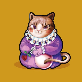 여왕 고양이 재미 있은 귀여운 할로윈 의상