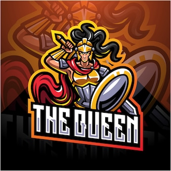 The queen esport mascot logo