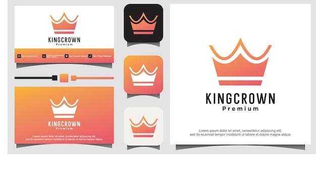 Queen king princess crown royal elegant logo design