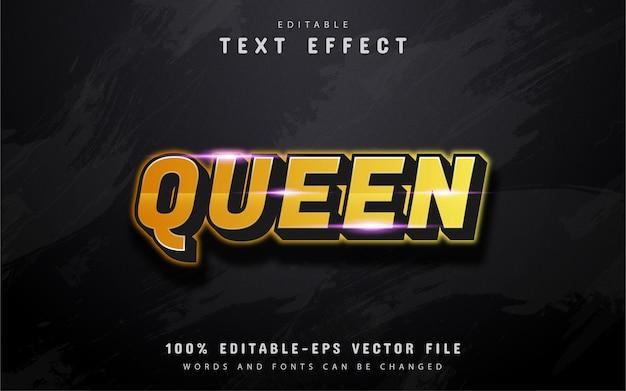 Queen text, 3d gold text effect