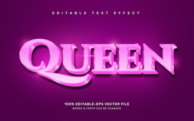 Queen text effect