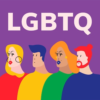 L'illustrazione vettoriale di queer community lgbtq