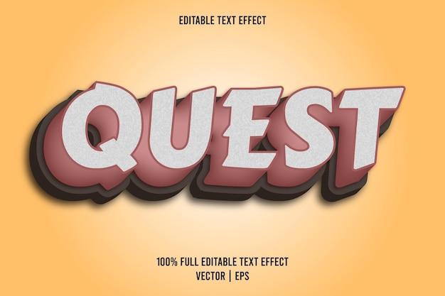 Quest 3 dimension editable text effect brown color