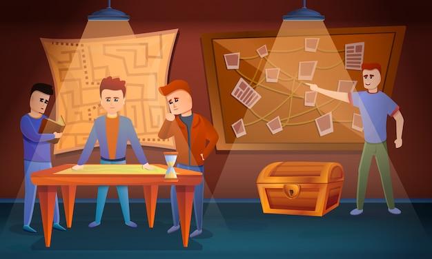 퀘스트 게임 개념, 만화 스타일