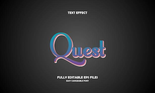 Quest text effect