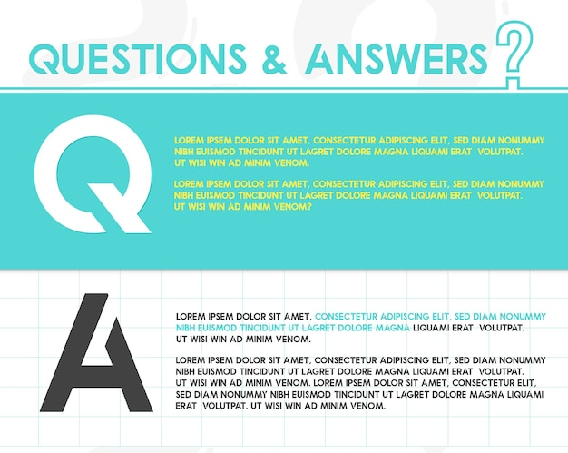 질문 및 답변 개념 스타일