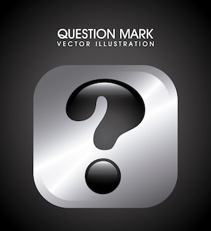 Question design over black background vector illustration