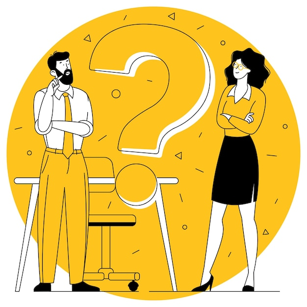 Вопросительный знак плоский дизайн вектор концепция для часто задаваемых вопросов и шаблон баннера горячей линии