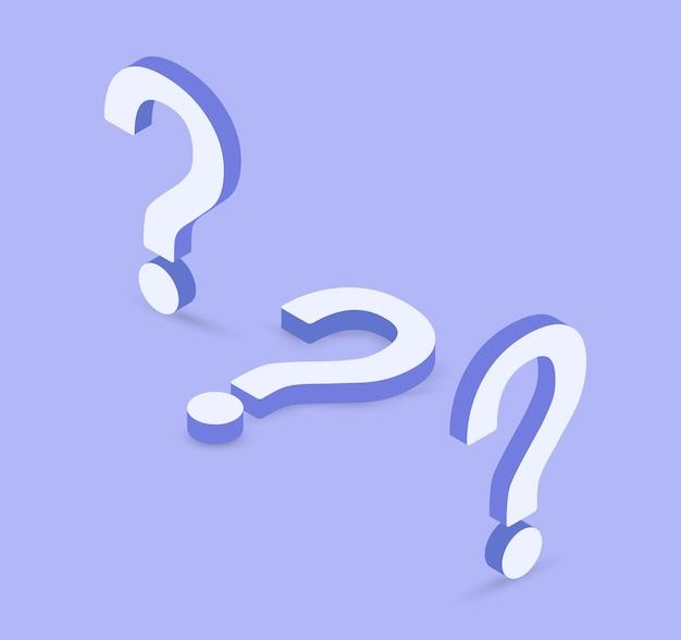 紫色の背景のよくある質問記号の疑問符アイコン