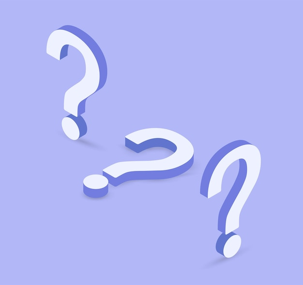 Question mark icon on purple background faq sign