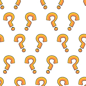 Question mark seamless pattern textile print. great for summer vintage fabric, scrapbooking, wallpaper, giftwrap. repeat pattern background design