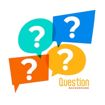 Question mark sign in speech bubble style