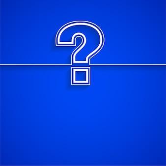 Modello di punto interrogativo per pagina di aiuto e supporto