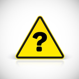 Question triangle signs. symbol in triangular sign