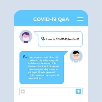 Вопросы и ответы covid-19 экран приложения