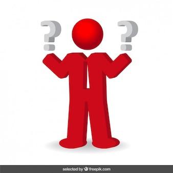 Значок вопросы бизнесмен
