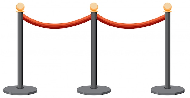 Queue stands in white background