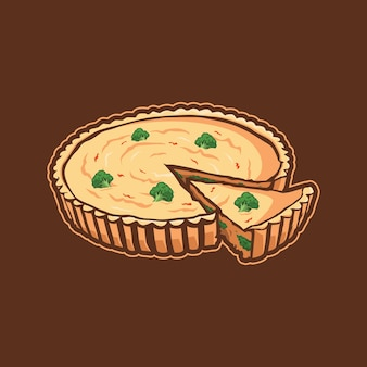 Quiche illustration design