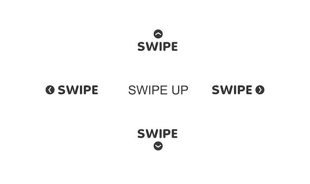 ソーシャルメディア用のクイックアクセスボタン広告とマーケティング用のスクロール矢印とwebアイコン