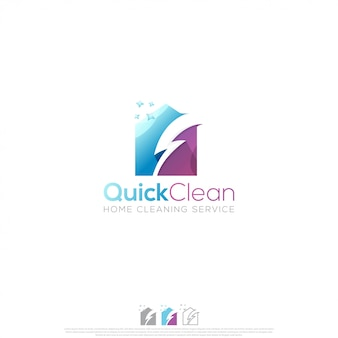 Quick clean logo design vector