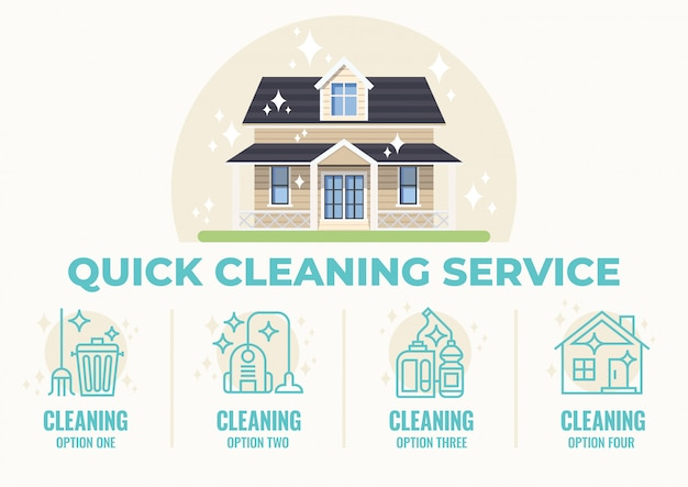 Quick cleaning service