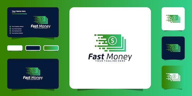 Вдохновение для дизайна логотипа быстрых денег, вдохновение наличными деньгами и логотипом