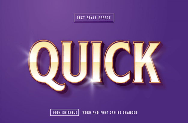 Quick purple text effect editable
