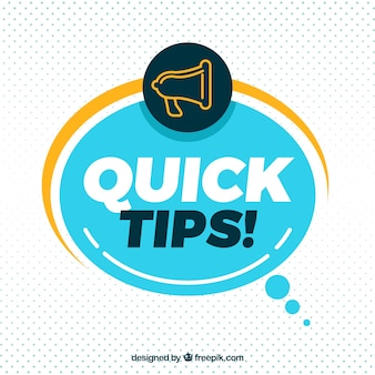 Quick tip composition with flat design