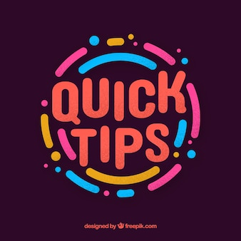 Quick tip concept with flat design