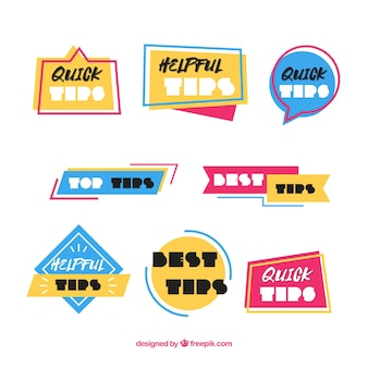 Quick tips badges collection