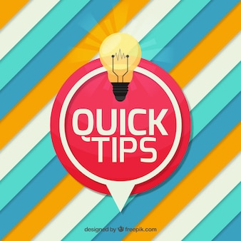 Quick tips composition with flat design