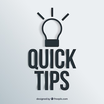 Quick tips concept with light bulb