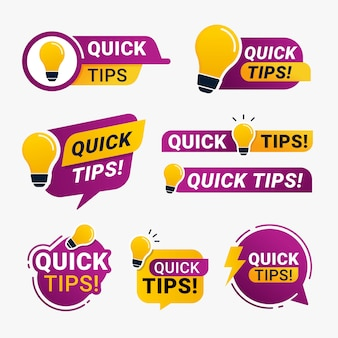 Quick tips logo badge with yellow lightbulb icon