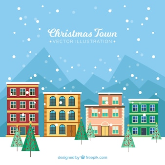 Quiet christmas town