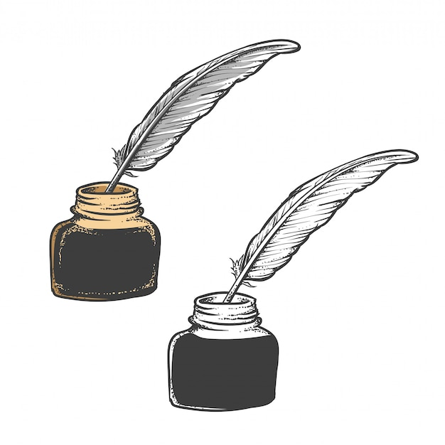 Quill pen feather or ink pen
