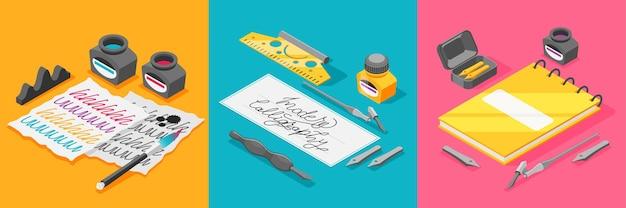 Set da scrittura con penna d'oca