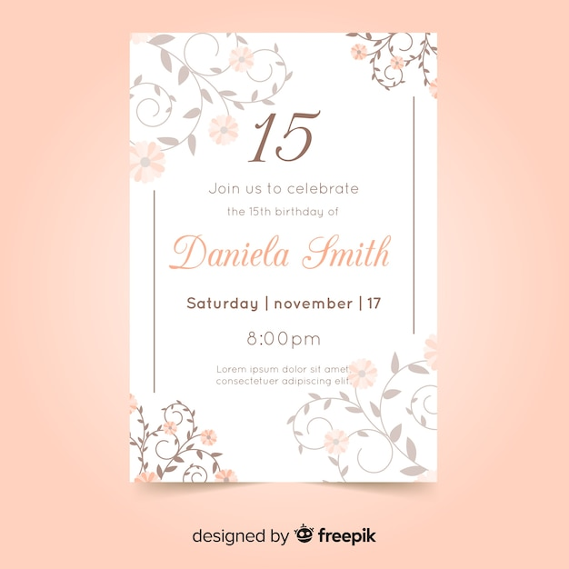 Free Quinceañera Party Invitation Card Svg Dxf Eps Png Cut