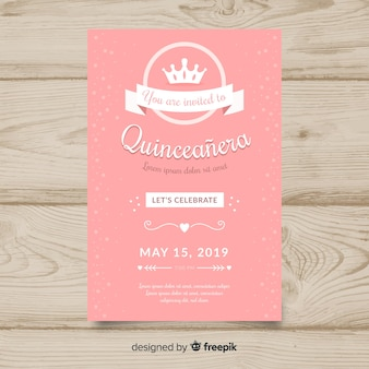 Quinceañera  party invitation
