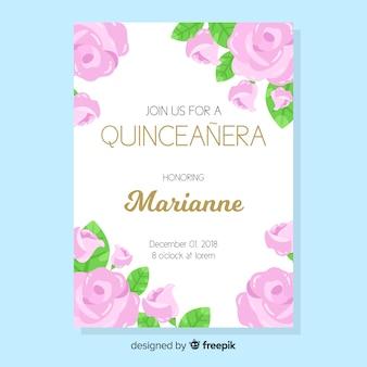 Quinceañera  party invitation