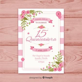 Приглашение на вечеринку quinceañera
