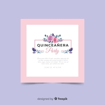 Quinceañeraパーティーの招待