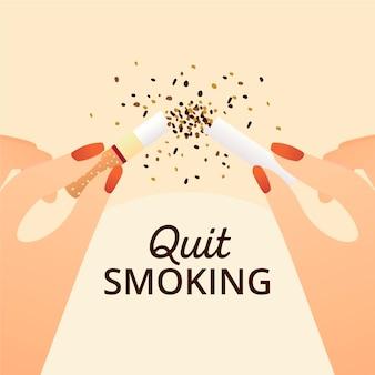 Quit smoking illustration