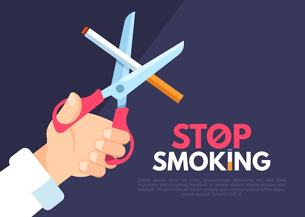 Quit smoking illustration