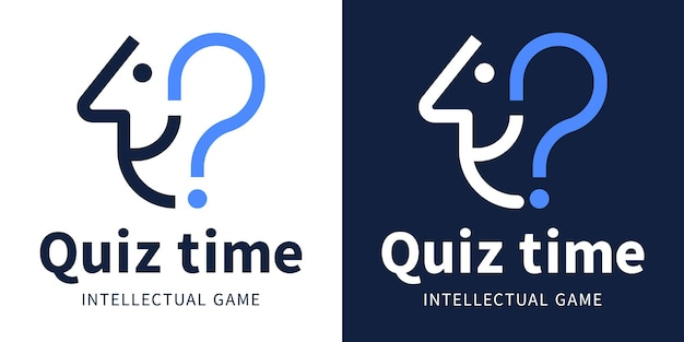 Quiz time logo for the intellectual game and the questionnaire