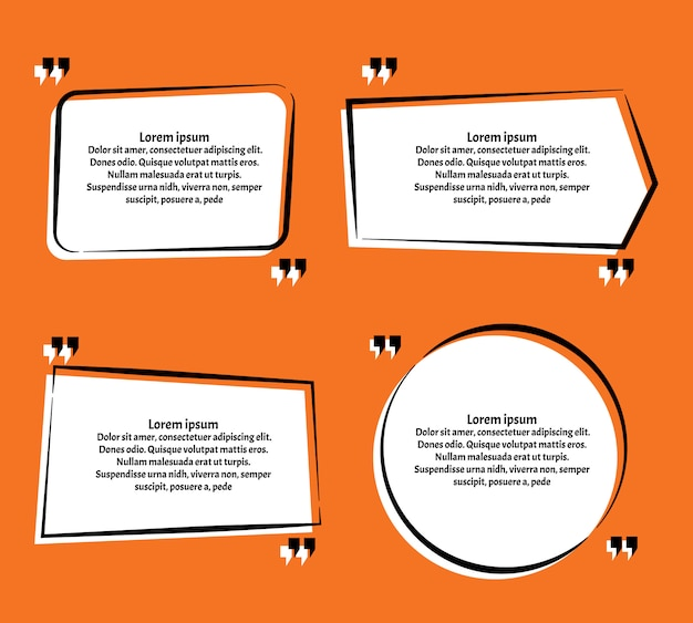 Quotation template in quotes on orange
