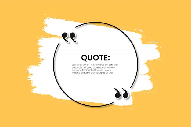 Quote banner with white splash template