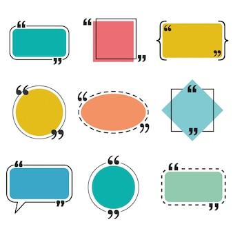 Набор цитат и шаблоны речи пузырь